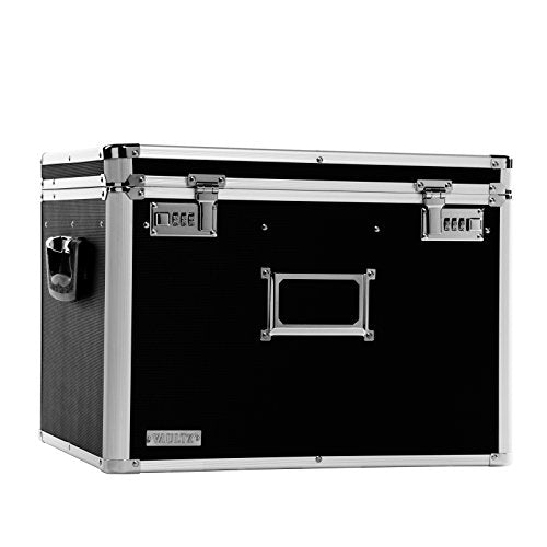 Vaultz Locking Chest, Letter and Legal Size, 17.5 x 14 x 12.5 Inches, Black (VZ01008)