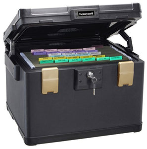 Honeywell 1 Hour Fire Safe Waterproof Filing Safe Box Chest fits Letter, A4, and Legal Files, Large, 1108
