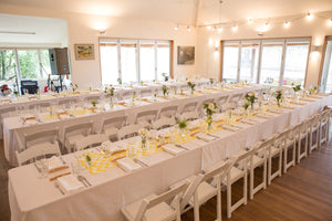 White Tablecloth - 2.4m Tables