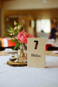 Wooden Table Numbers 1 - 12