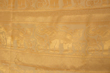 Tablecloth - Silk Gold Elephant