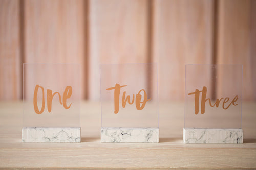Table Numbers Marble Set