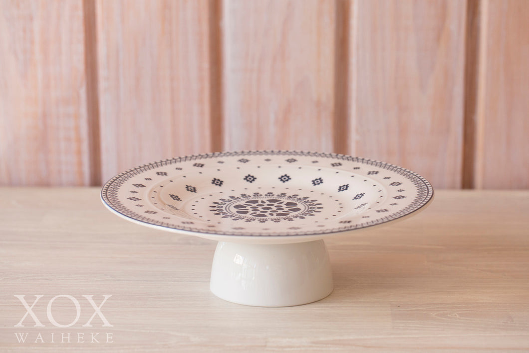 Cake Stand - Floral Round