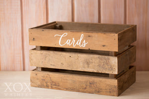 "Wooden Crate ""Cards"""