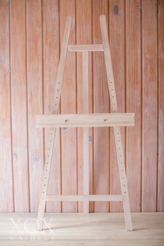 Wooden Whitewashed Easel