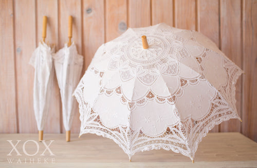 Parasols White Lace