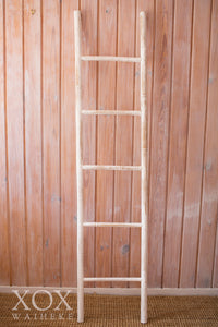 Bamboo Ladder White