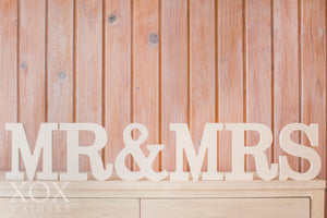 MR & MRS Wooden Blocks - Large