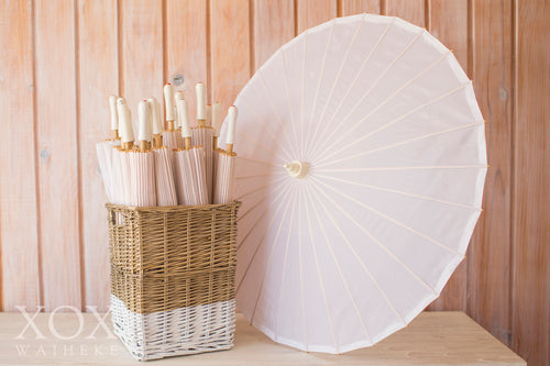 Parasols Silk White