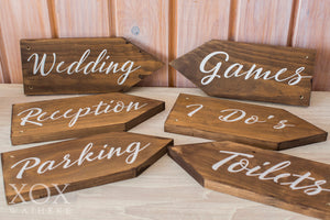 Wooden Signs on stake
