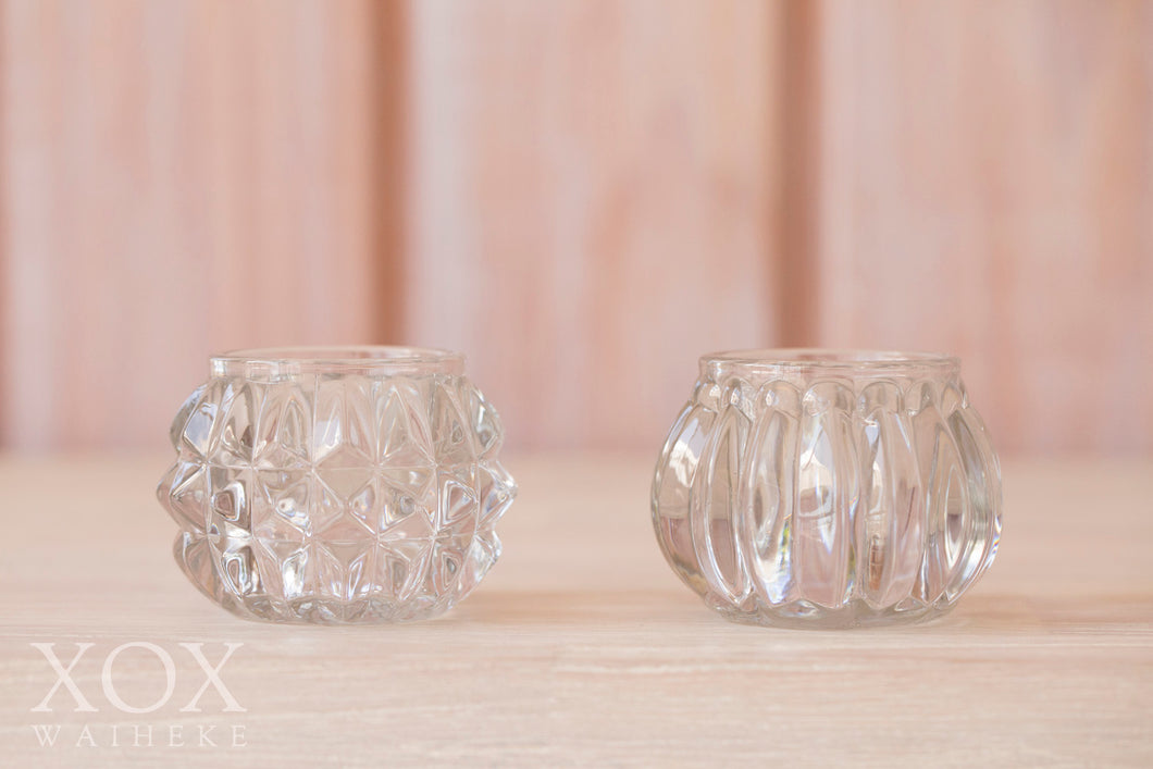 Votives Small Round Crystal