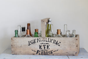 Wooden Crate with Bottles