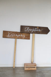 Wooden Arrow Signs