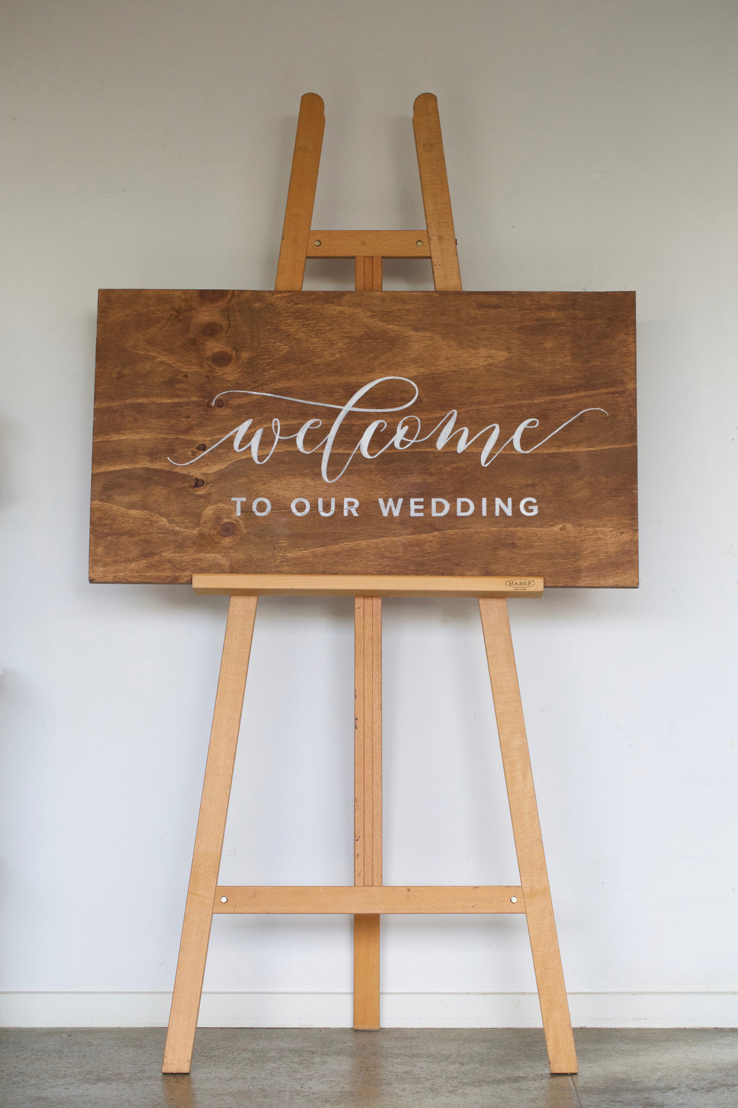 Welcome Sign & Easel Combo