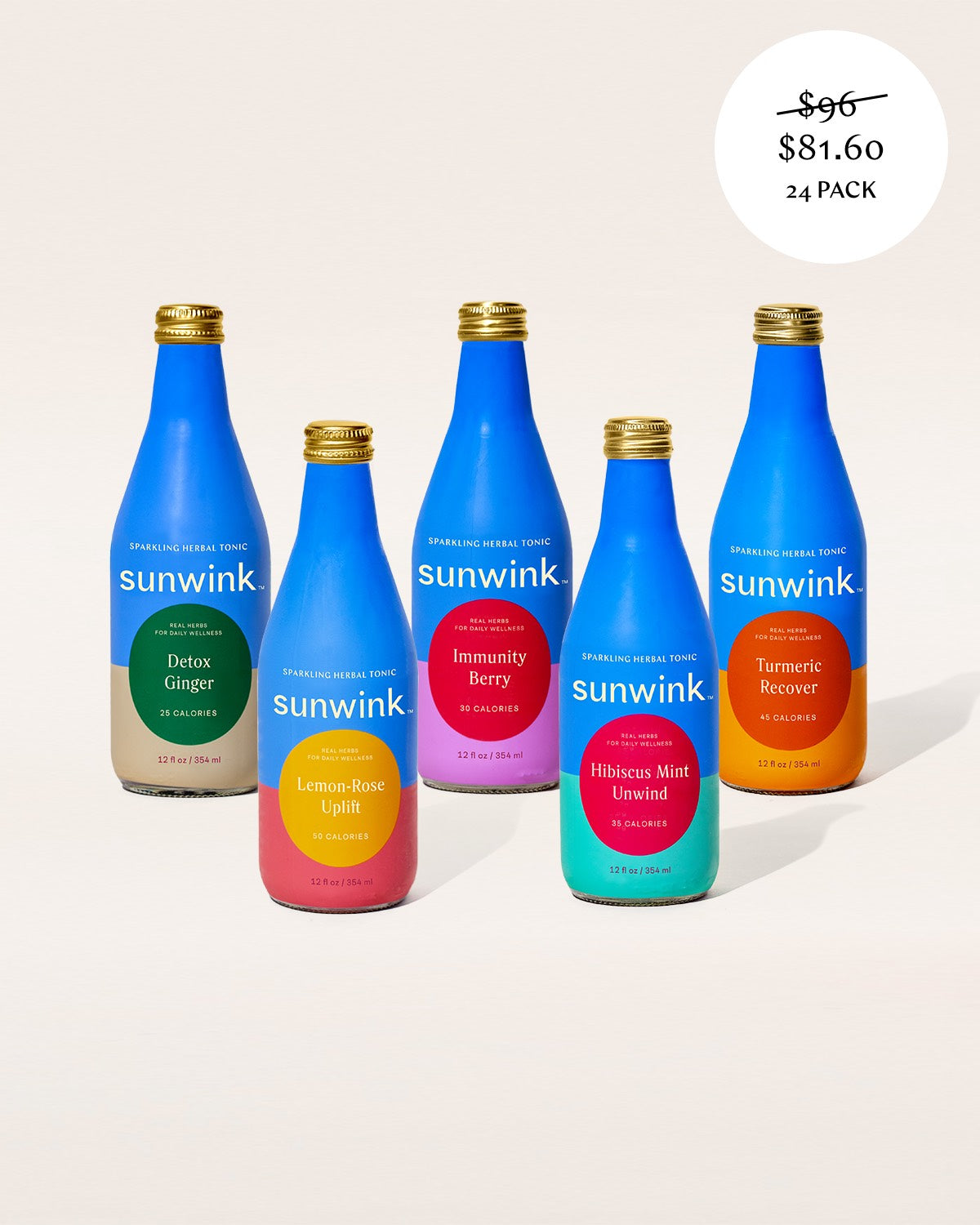 Sunwink Value Pack – Sparkling Wellness Tonics (24 BOTTLES)