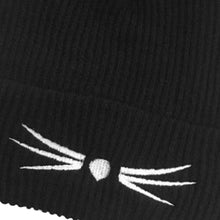 Wool Hat with Cat Ears and Whiskers