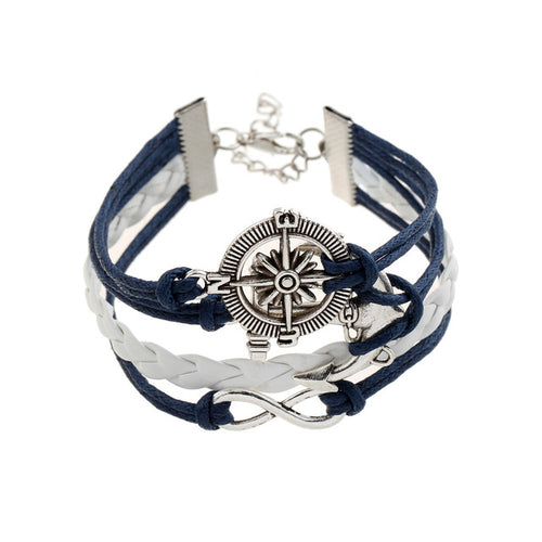 Multilayer Wrap Bracelet with Charms