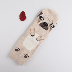 Cotton Socks with Cute Cartoon Animals