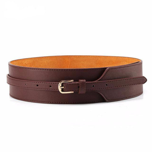 Cowhide Leather Belt with Pin Buckle