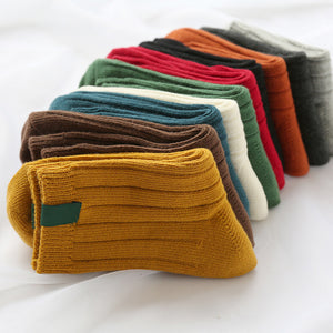 Warm Winter Socks With Solid Colors