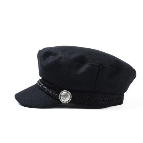 Winter/Autumn Cap with Metal Button