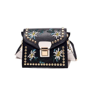 Flower Embroidered Bag