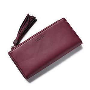Wallet with Tassel Zipper Pull