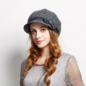 Wool Hat with a Bowtie