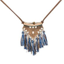 Boho Necklace with Leather Cord