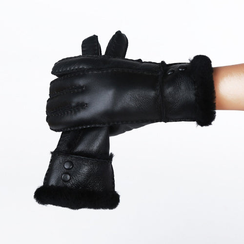 Genuine Leather Sheepskin Gloves