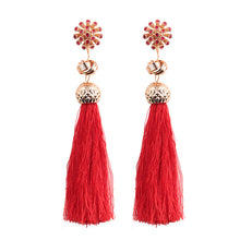 Micro Beads Tassel Earrings