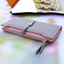Long Leather Wallet with Buckle