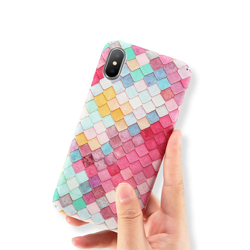 Fish Scale Case For iPhone (6 7 8 X)