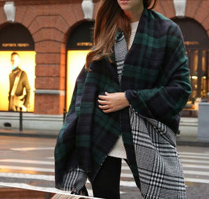 Double Sided Plaid Scarf