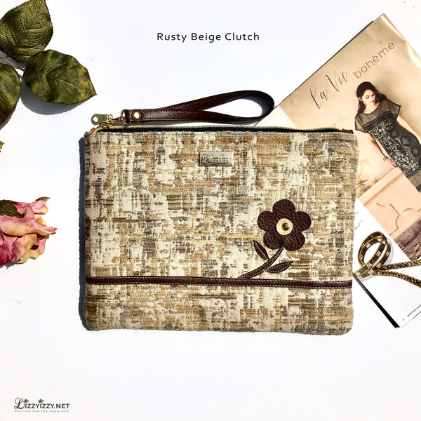 Rusty Beige Clutch