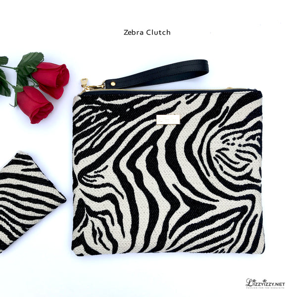 Zebra Clutch Evening bag