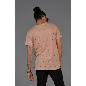 Skull Studded Short Sleeve T-Shirt (Dirty Pink)