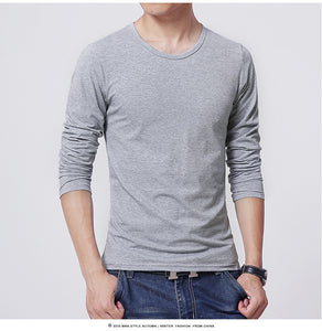 Men's Long-Sleeved Round-Necked T-Shirt