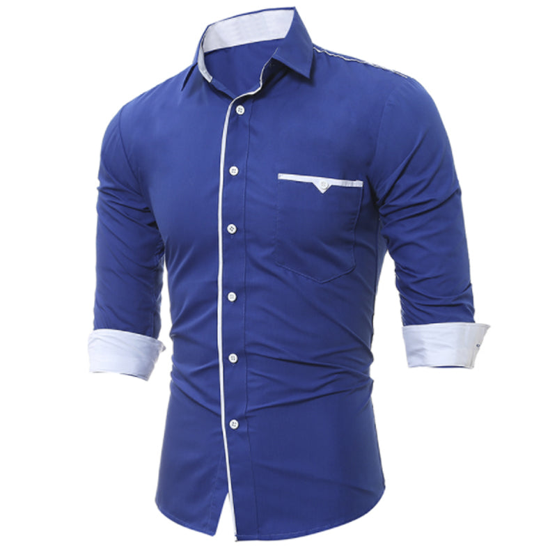 Casual Fashion Business Shirt Long Sleeve