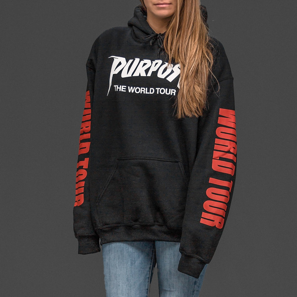 JUSTIN BIEBER UNISEX PURPOSE WORLD TOUR HOODIE