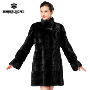 Women fur coats,Genuine Leather,Three colors styles mink coat