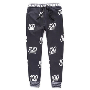 100 Emoji Skinny Sweatpants Joggers 5 Colors