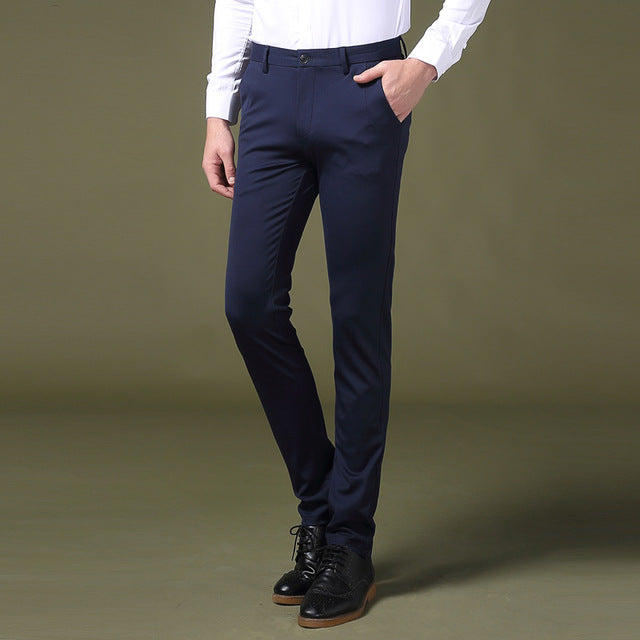 Fashion Male Business Trousers Full Length
