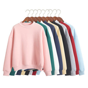 Basic Solid Color Pullover