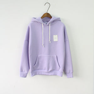 Solid Hooded Hoodies for Women