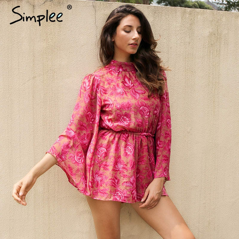 Simplee Lining Bodysuit Sexy Romper