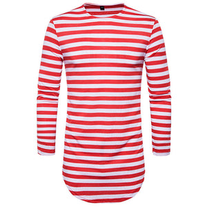 Striped T-shirt In Stretch Cotton Blend