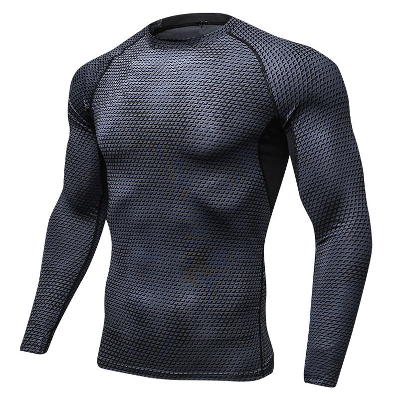 Men's Casual Tshirt Long Sleeve Compression Tops Autumn Spring Fitness Clothing Quick Dry Jerseys Elastic Tee Shirt XXL