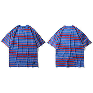 6 Colored Striped T Shirt  Casual Tops