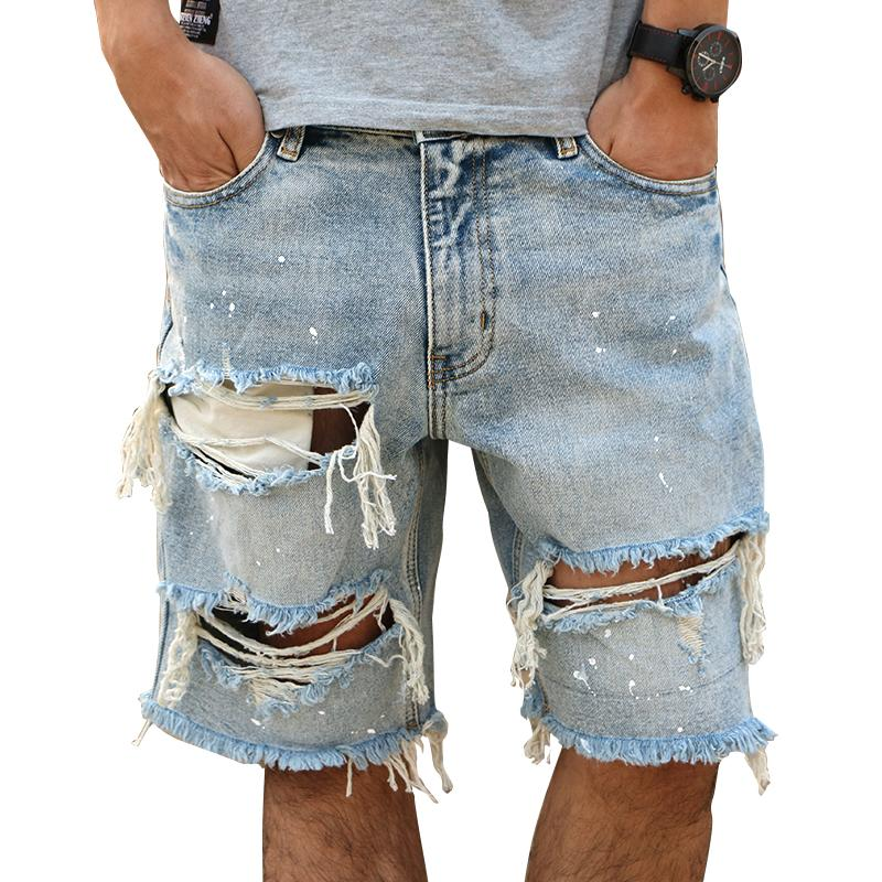 Distressed men Denim Shorts